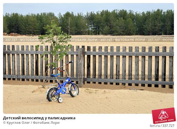 Детский велосипед у палисадника, фото № 337727, снято 8 июня 2008 г. (c) Круглов Олег / Фотобанк Лори
