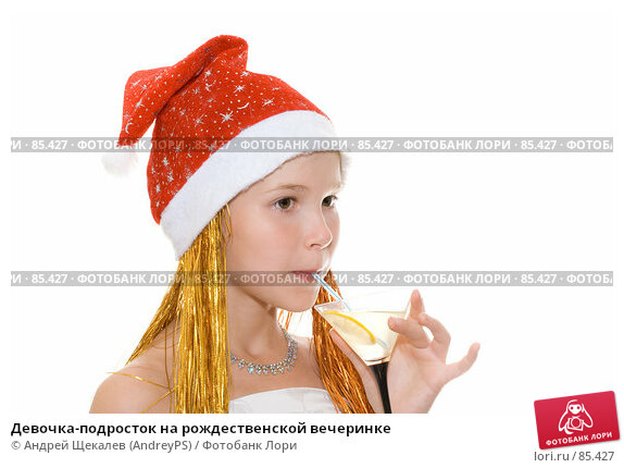 Девочка-подросток на рождественской вечеринке, фото № 85427, снято 7 августа 2007 г. (c) Андрей Щекалев (AndreyPS) / Фотобанк Лори