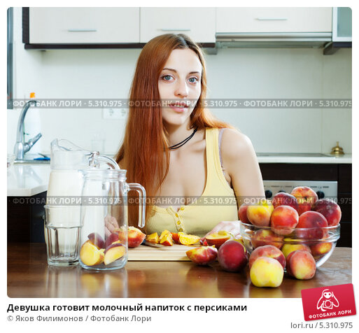 девушки с персиком фото