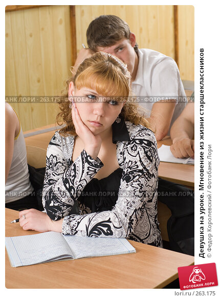 Купить «Девушка на уроке. Мгновение из жизни старшеклассников», фото № 263175, снято 26 апреля 2008 г. (c) Федор Королевский / Фотобанк Лори