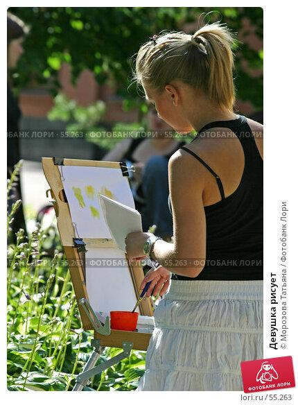 Девушка рисует, фото № 55263, снято 6 июля 2006 г. (c) Морозова Татьяна / Фотобанк Лори