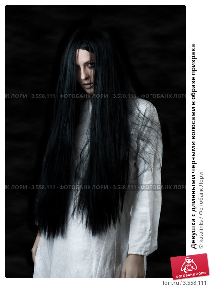 девушки с длинными чёрными волосами фото