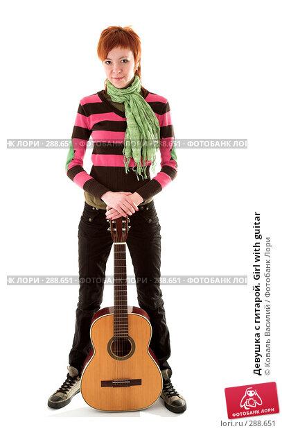Девушка с гитарой. Girl with guitar, фото № 288651, снято 21 марта 2008 г. (c) Коваль Василий / Фотобанк Лори