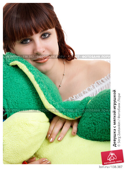 Девушка с мягкой игрушкой, фото № 138387, снято 8 декабря 2006 г. (c) Serg Zastavkin / Фотобанк Лори