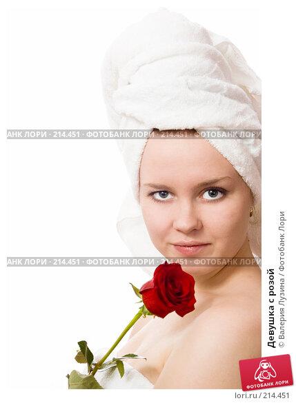 Девушка с розой, фото № 214451, снято 3 марта 2008 г. (c) Валерия Потапова / Фотобанк Лори