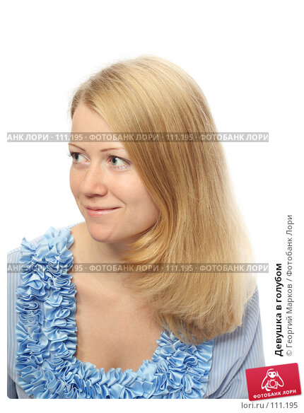 Купить «Девушка в голубом», фото № 111195, снято 20 октября 2007 г. (c) Георгий Марков / Фотобанк Лори