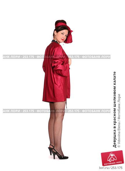 Купить «Девушка в красном шелковом халате», фото № 253175, снято 26 февраля 2008 г. (c) Vdovina Elena / Фотобанк Лори