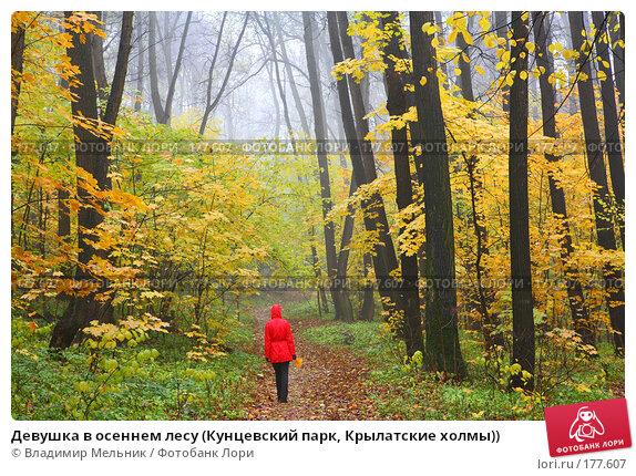 Девушка в осеннем лесу (Кунцевский парк, Крылатские холмы)), фото № 177607, снято 20 октября 2007 г. (c) Владимир Мельник / Фотобанк Лори