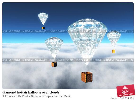 diamond hot-air balloons over clouds. Стоковое фото, фотограф Francesco De Paoli / PantherMedia / Фотобанк Лори