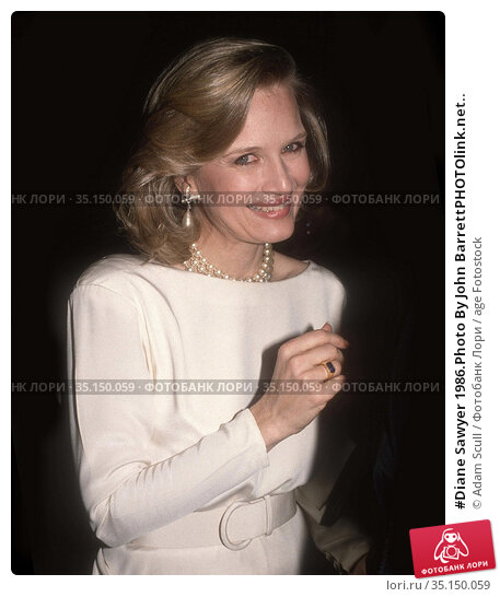 #Diane Sawyer 1986.Photo By John BarrettPHOTOlink.net.. Редакционное фото, фотограф Adam Scull / age Fotostock / Фотобанк Лори