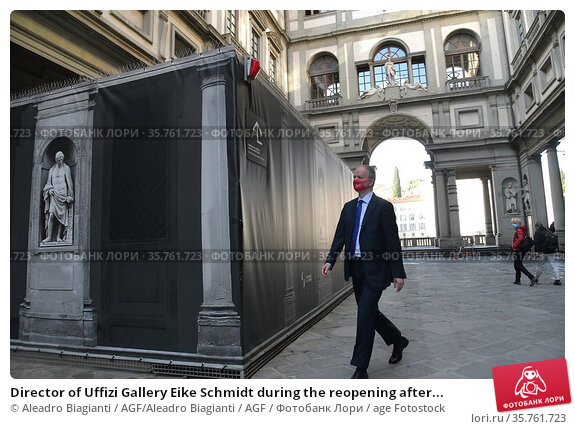 Director of Uffizi Gallery Eike Schmidt during the reopening after... Редакционное фото, фотограф Aleadro Biagianti / AGF/Aleadro Biagianti / AGF / age Fotostock / Фотобанк Лори