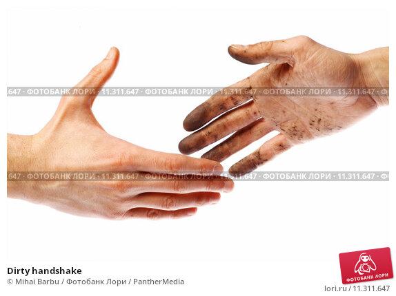 Купить «Dirty handshake», фото № 11311647, снято 24 мая 2019 г. (c) PantherMedia / Фотобанк Лори