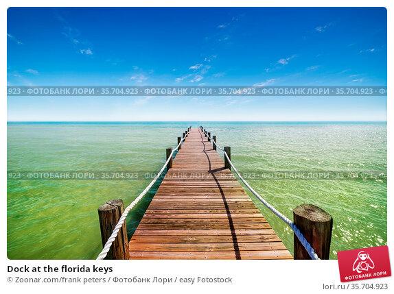 Dock at the florida keys. Стоковое фото, фотограф Zoonar.com/frank peters / easy Fotostock / Фотобанк Лори