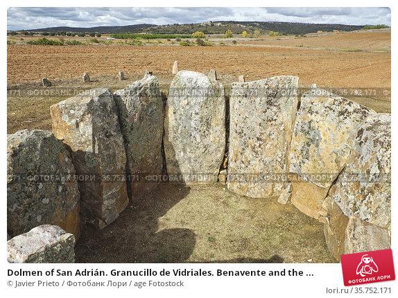 Dolmen of San Adrián. Granucillo de Vidriales. Benavente and the ... Стоковое фото, фотограф Javier Prieto / age Fotostock / Фотобанк Лори