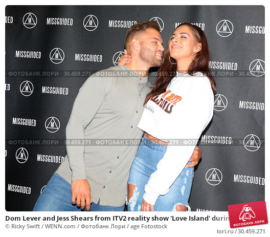 Dom Lever and Jess Shears from ITV2 reality show 'Love Island' during... (2017 год). Редакционное фото, фотограф Ricky Swift / WENN.com / age Fotostock / Фотобанк Лори