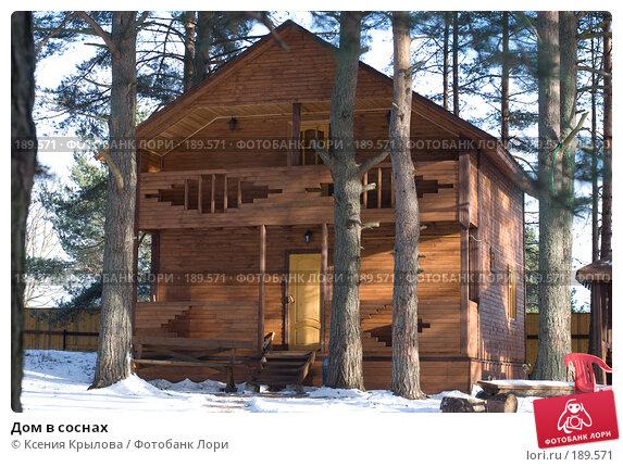 Дом в соснах, фото № 189571, снято 21 ноября 2007 г. (c) Ксения Крылова / Фотобанк Лори