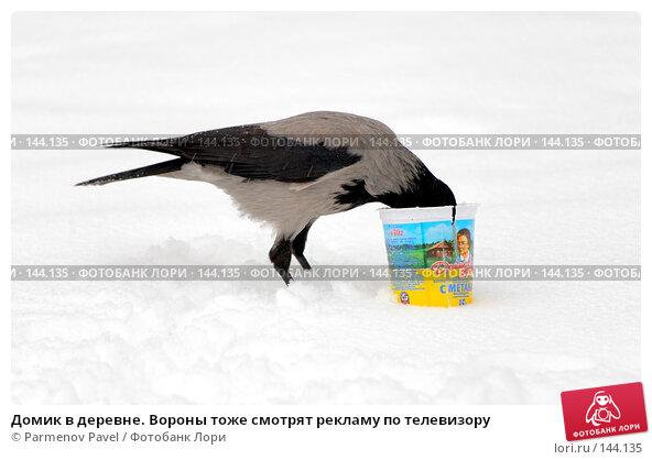Домик в деревне. Вороны тоже смотрят рекламу по телевизору, фото № 144135, снято 30 ноября 2007 г. (c) Parmenov Pavel / Фотобанк Лори