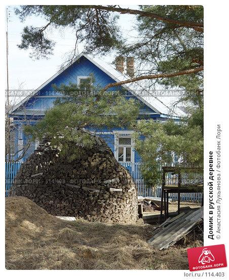 Купить «Домик в русской деревне», фото № 114403, снято 11 апреля 2007 г. (c) Анастасия Лукьянова / Фотобанк Лори