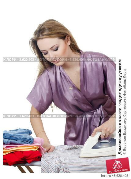 фото домохозяйка в халате