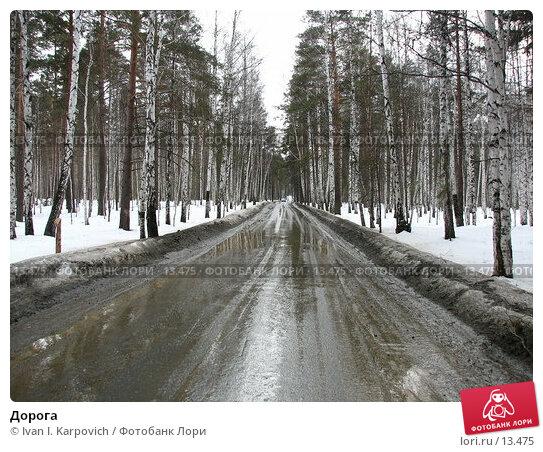 Дорога, фото № 13475, снято 9 апреля 2006 г. (c) Ivan I. Karpovich / Фотобанк Лори
