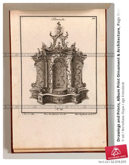Купить «Drawings and Prints, Album Print Ornament & Architecture, Page from Album of Ornament Prints from the Fund of Martin Engelbrecht, Artist, Publisher, Artist...», фото № 32018031, снято 22 апреля 2017 г. (c) age Fotostock / Фотобанк Лори
