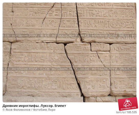 Древние иероглифы. Луксор. Египет, фото № 185535, снято 15 января 2008 г. (c) Яков Филимонов / Фотобанк Лори