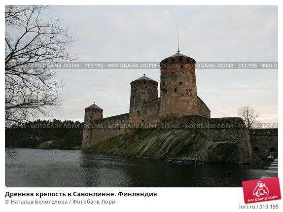 Древняя крепость в Савонлинне. Финляндия, фото № 313195, снято 16 декабря 2007 г. (c) Наталья Белотелова / Фотобанк Лори