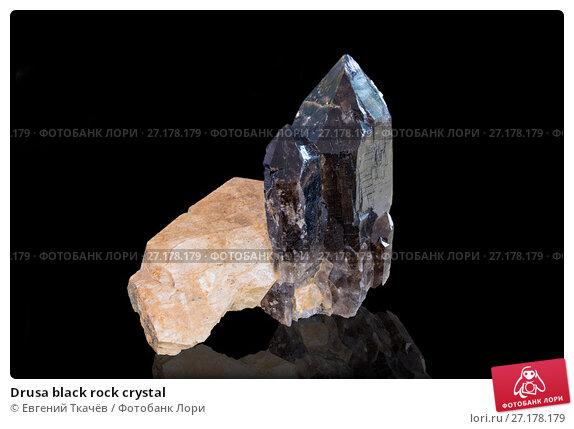 Купить «Drusa black rock crystal», фото № 27178179, снято 17 августа 2013 г. (c) Евгений Ткачёв / Фотобанк Лори