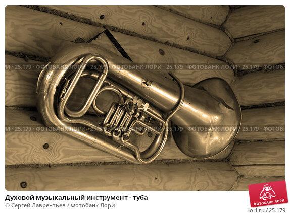 Духовой музыкальный инструмент - туба, фото № 25179, снято 24 октября 2016 г. (c) Сергей Лаврентьев / Фотобанк Лори