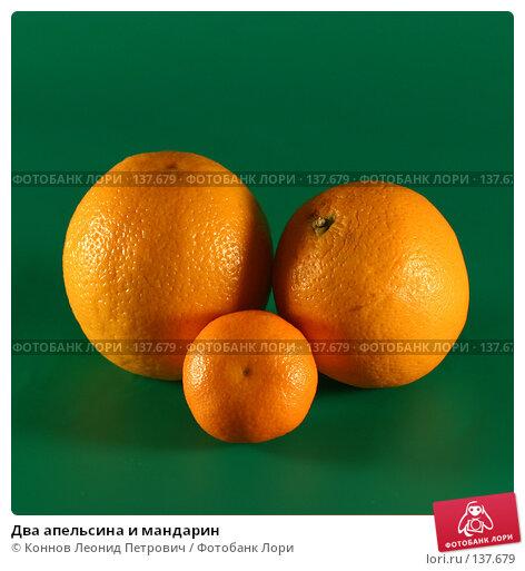 Купить «Два апельсина и мандарин», фото № 137679, снято 4 декабря 2007 г. (c) Коннов Леонид Петрович / Фотобанк Лори