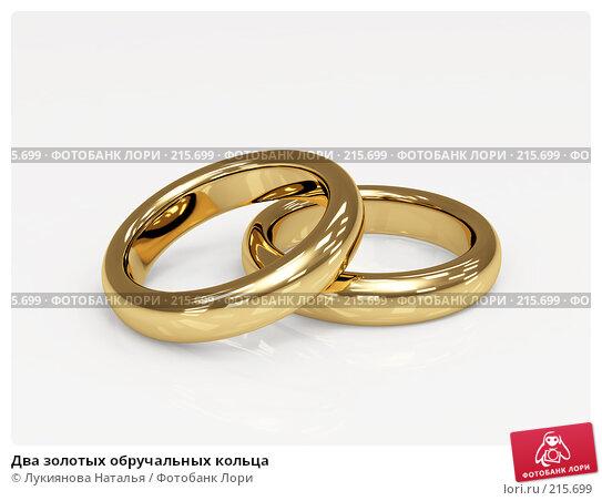Купить «Два золотых обручальных кольца», иллюстрация № 215699 (c) Лукиянова Наталья / Фотобанк Лори
