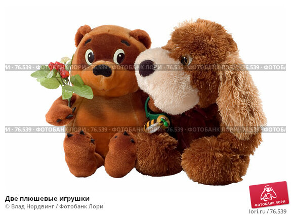 Две плюшевые игрушки, фото № 76539, снято 9 августа 2007 г. (c) Влад Нордвинг / Фотобанк Лори