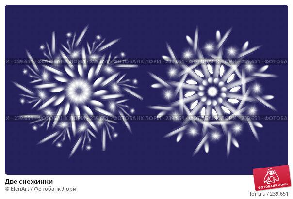 Две снежинки, иллюстрация № 239651 (c) ElenArt / Фотобанк Лори