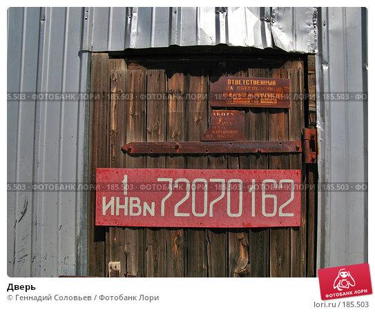 Дверь, фото № 185503, снято 20 июня 2007 г. (c) Геннадий Соловьев / Фотобанк Лори