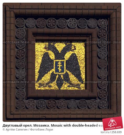 Двуглавый орел. Мозаика. Mosaic with double-headed eagle, фото № 258699, снято 28 мая 2006 г. (c) Артём Сапегин / Фотобанк Лори