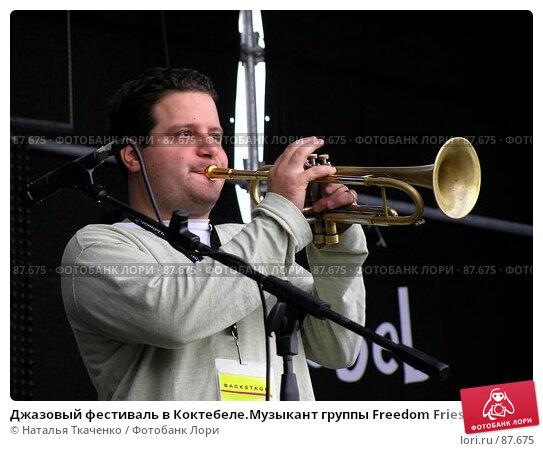 Джазовый фестиваль в Коктебеле.Музыкант группы Freedom Fries, фото № 87675, снято 5 декабря 2016 г. (c) Наталья Ткаченко / Фотобанк Лори