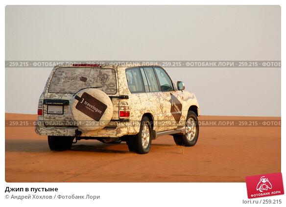 Джип в пустыне, фото № 259215, снято 2 июня 2006 г. (c) Андрей Хохлов / Фотобанк Лори