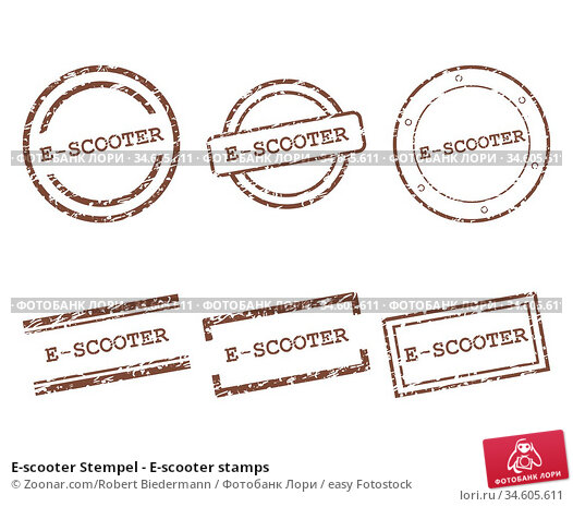 E-scooter Stempel - E-scooter stamps. Стоковое фото, фотограф Zoonar.com/Robert Biedermann / easy Fotostock / Фотобанк Лори