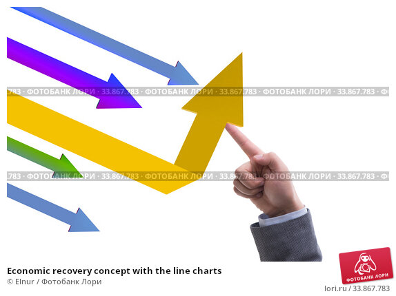 Economic recovery concept with the line charts. Стоковое фото, фотограф Elnur / Фотобанк Лори