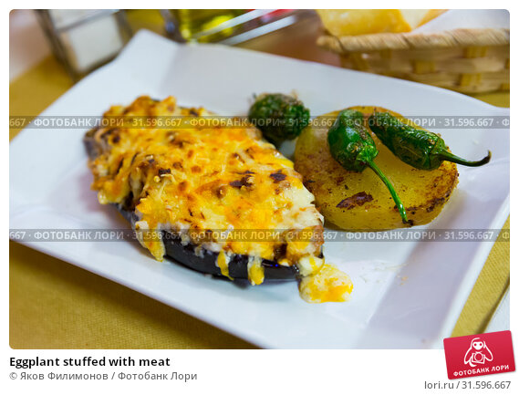 Купить «Eggplant stuffed with meat», фото № 31596667, снято 30 марта 2020 г. (c) Яков Филимонов / Фотобанк Лори
