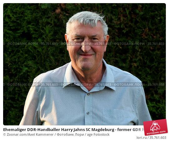 Ehemaliger DDR-Handballer Harry Jahns SC Magdeburg - former GDR handball... Стоковое фото, фотограф Zoonar.com/Axel Kammerer / age Fotostock / Фотобанк Лори