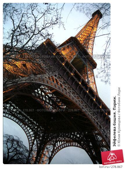 Купить «Эйфелева башня. Париж.», фото № 278867, снято 25 апреля 2018 г. (c) Юлия Кузнецова / Фотобанк Лори