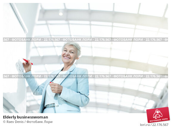 Купить «Elderly businesswoman», фото № 22176567, снято 25 сентября 2015 г. (c) Raev Denis / Фотобанк Лори