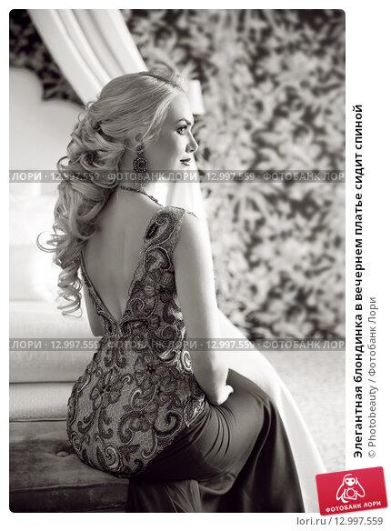 Фото блондинок в платье спиной