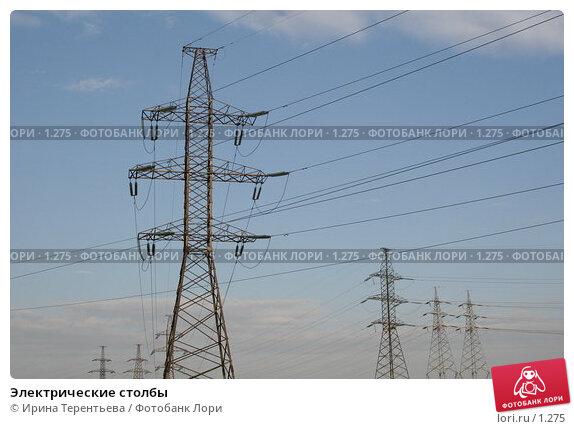Электрические столбы, эксклюзивное фото № 1275, снято 27 августа 2005 г. (c) Ирина Терентьева / Фотобанк Лори