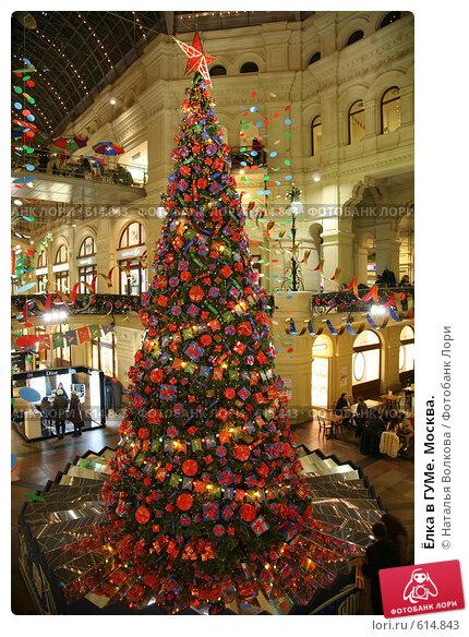 Купить «Ёлка в ГУМе. Москва.», фото № 614843, снято 12 декабря 2008 г. (c) Наталья Волкова / Фотобанк Лори