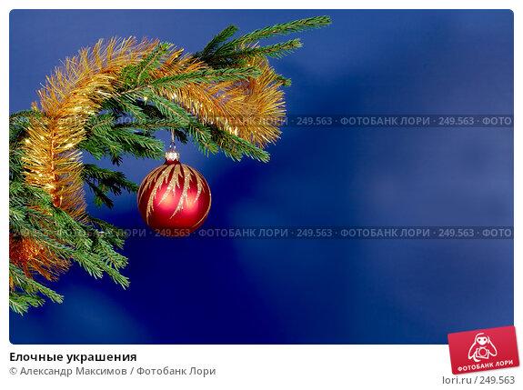 Купить «Елочные украшения», фото № 249563, снято 3 декабря 2006 г. (c) Александр Максимов / Фотобанк Лори