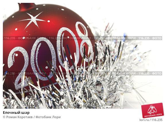 Купить «Елочный шар», фото № 116235, снято 10 ноября 2007 г. (c) Роман Коротаев / Фотобанк Лори