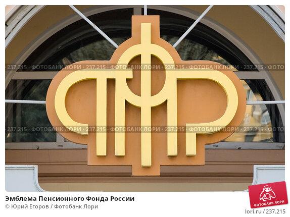 Эмблема Пенсионного Фонда России, фото № 237215, снято 21 октября 2016 г. (c) Юрий Егоров / Фотобанк Лори