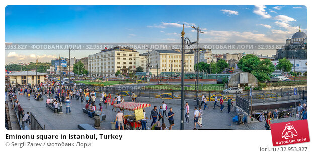 Eminonu square in Istanbul, Turkey (2019 год). Редакционное фото, фотограф Sergii Zarev / Фотобанк Лори